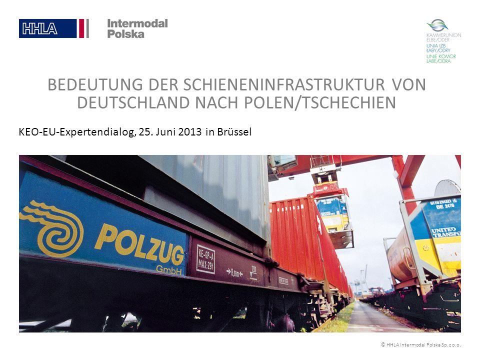 © HHLA Intermodal Polska Sp. z o.o. KEO-EU-Expertendialog, 25. Juni 2013 in Brüssel BEDEUTUNG DER SCHIENENINFRASTRUKTUR VON DEUTSCHLAND NACH POLEN/TSC