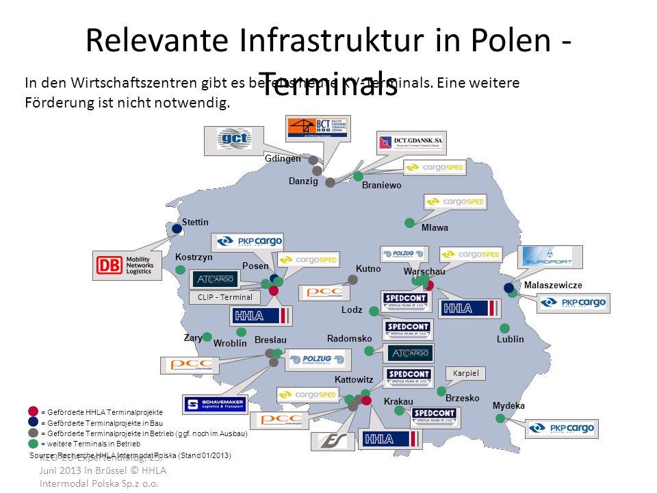 KEO-EU-Expertendialog, 25. Juni 2013 in Brüssel © HHLA Intermodal Polska Sp.z o.o. = Geförderte HHLA Terminalprojekte = Geförderte Terminalprojekte in