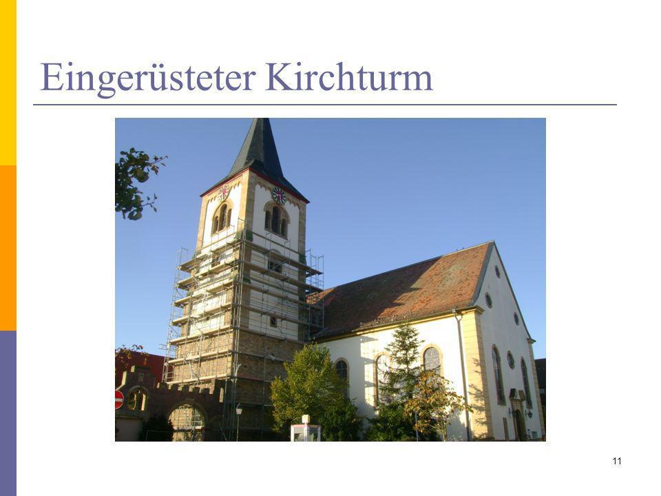 Eingerüsteter Kirchturm 11