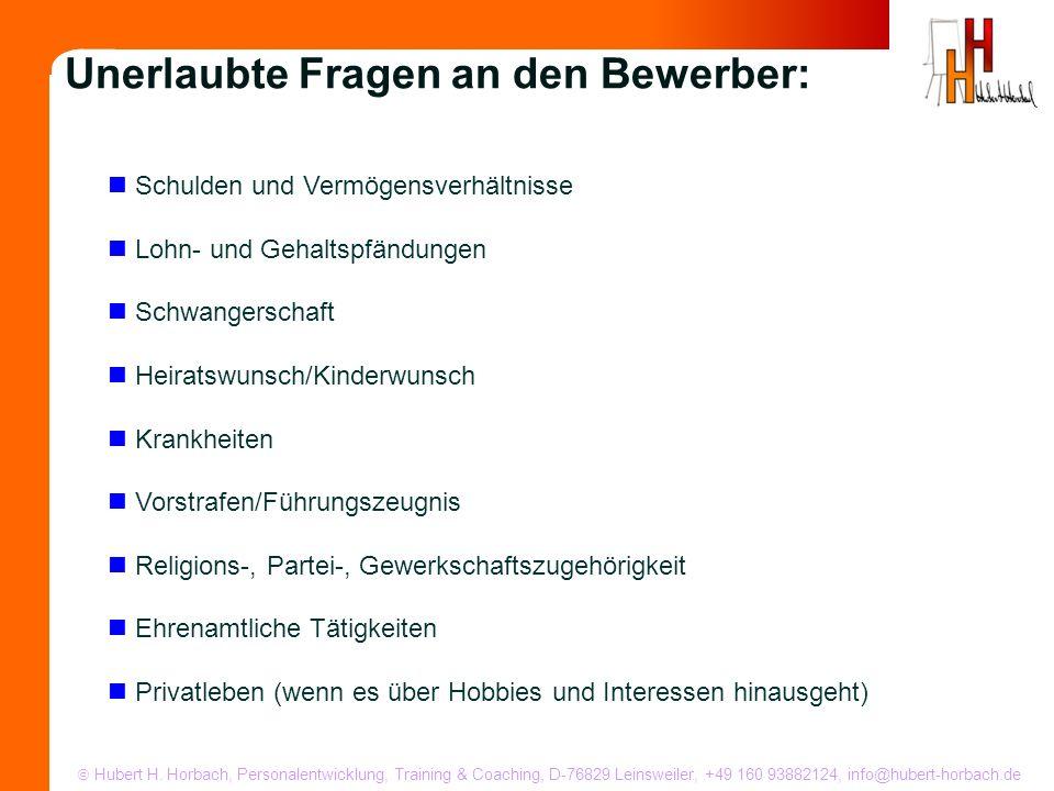 Hubert H. Horbach, Personalentwicklung, Training & Coaching, D-76829 Leinsweiler, +49 160 93882124, info@hubert-horbach.de Schulden und Vermögensverhä