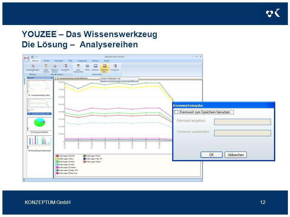 YOUZEE – Das Wissenswerkzeug Die Lösung – Analysereihen KONZEPTUM GmbH12