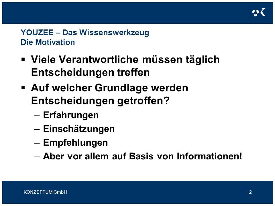 YOUZEE – Das Wissenswerkzeug Die Motivation Welche Eigenschaften müssen Informationen haben, damit Sie zur Entscheidungsfindung geeignet sind.