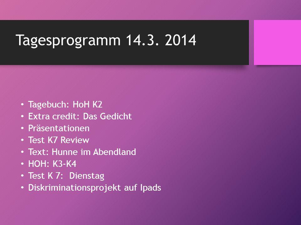 Test K8 Review Grammatik: Adjektivendungen: der, ein and unpreceded (S.