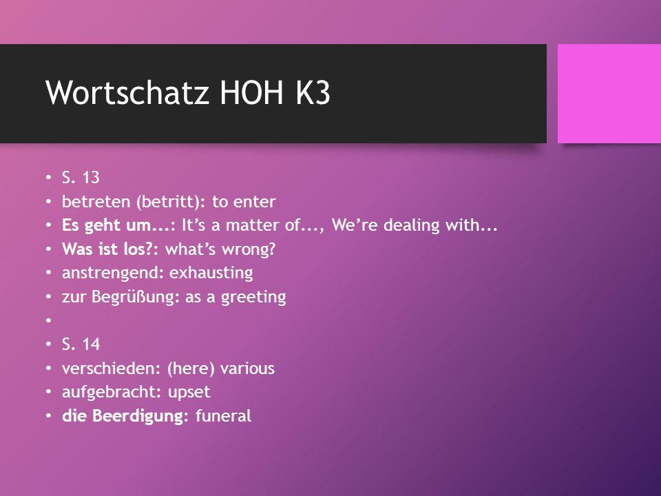 Wortschatz HOH K3 S.