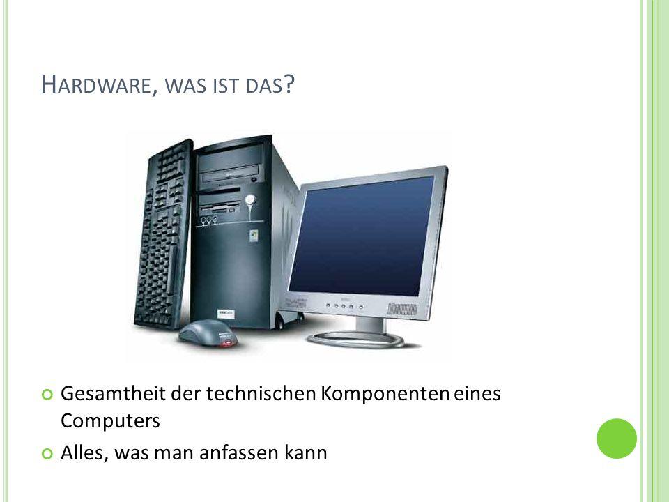 H ARDWARE 1.Mainboard (Hauptplatine) 2. Prozessor 3.