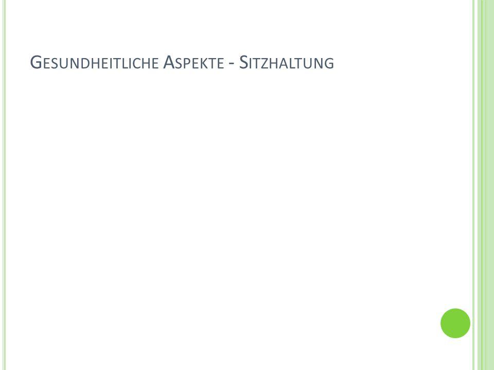 G ESUNDHEITLICHE A SPEKTE - S ITZHALTUNG