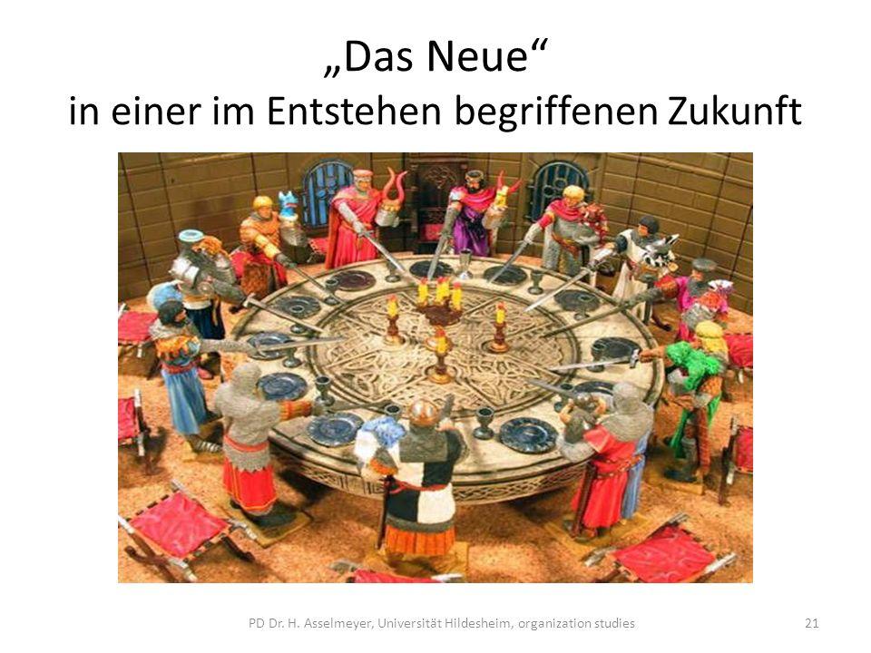 Das Neue in einer im Entstehen begriffenen Zukunft PD Dr. H. Asselmeyer, Universität Hildesheim, organization studies21