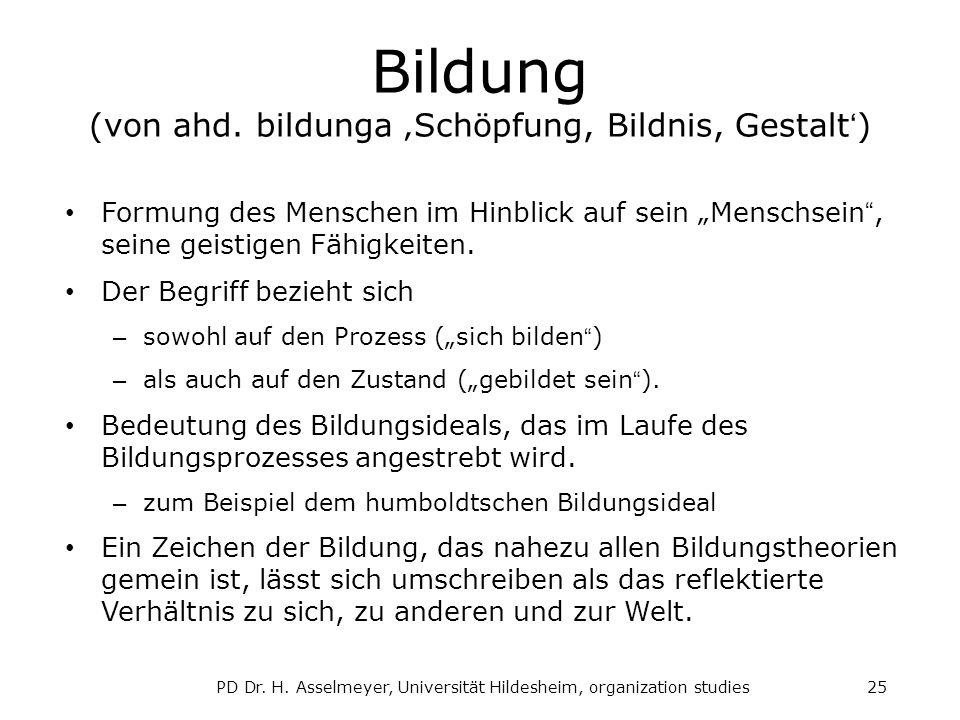 Bildung (von ahd.