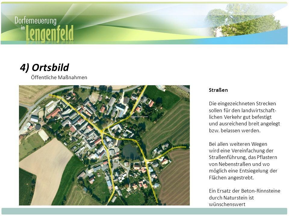 Straßen Die eingezeichneten Strecken sollen für den landwirtschaft- lichen Verkehr gut befestigt und ausreichend breit angelegt bzw.