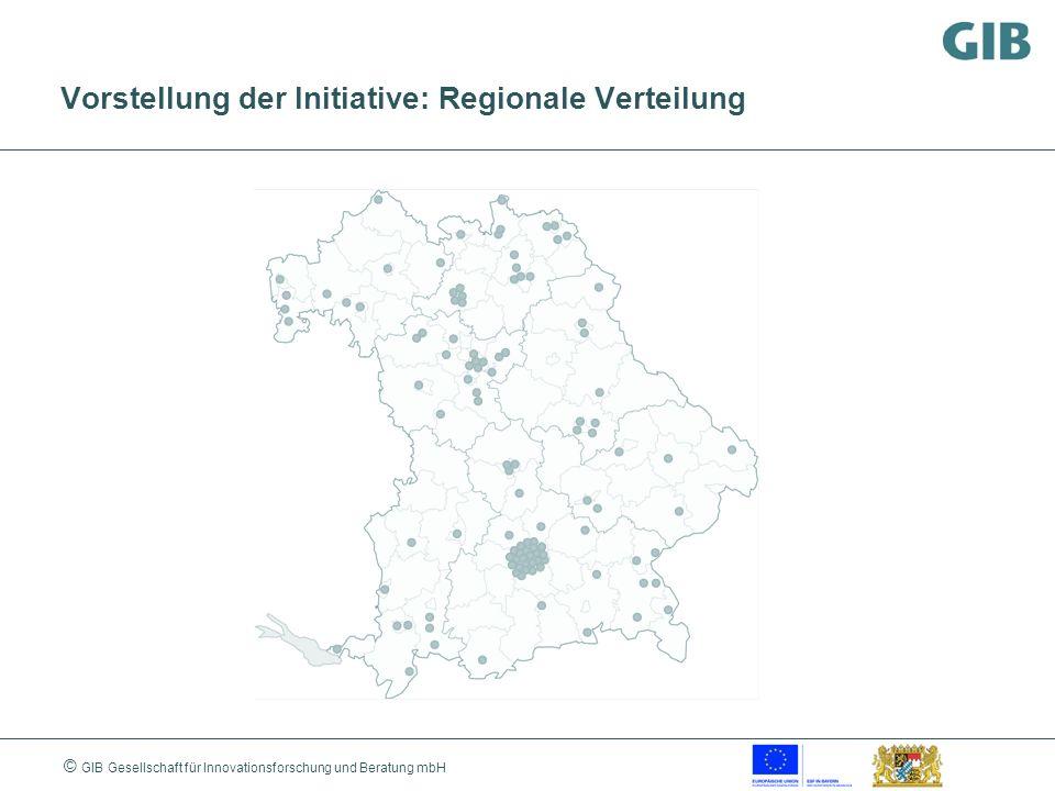 © GIB Gesellschaft für Innovationsforschung und Beratung mbH Vorstellung der Initiative: Regionale Verteilung