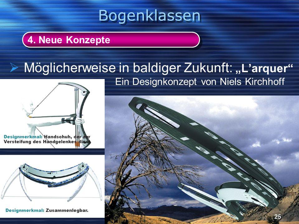 Möglicherweise in baldiger Zukunft:Larquer Ein Designkonzept von Niels Kirchhoff 4. Neue Konzepte Bogenklassen 25