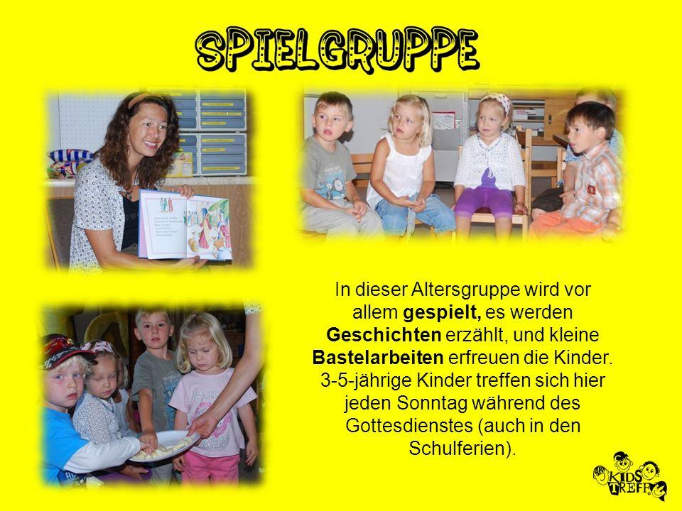 Die Kindergarten-Kinder erleben die Spielzone und die Lobpreiszeit gemeinsam mit den 1.-6.-Klässlern.
