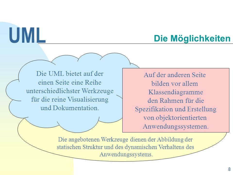 9 Die UML unterscheidet zwischen statischen und dynamischen Modellen eines Systems.