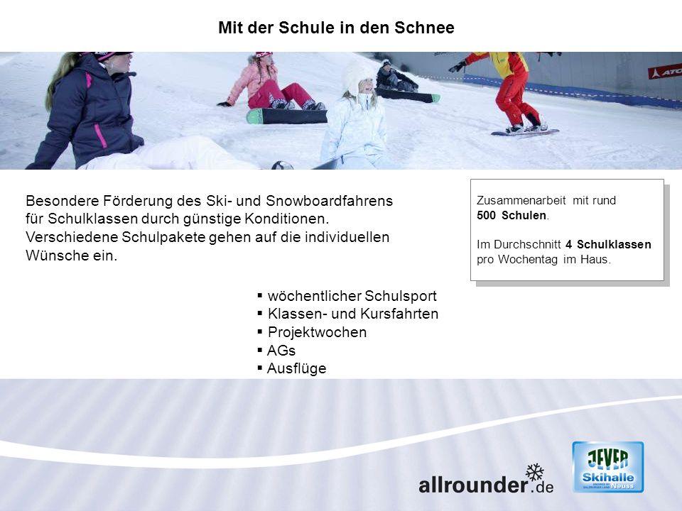 Besondere Förderung des Ski- und Snowboardfahrens für Schulklassen durch günstige Konditionen. Verschiedene Schulpakete gehen auf die individuellen Wü