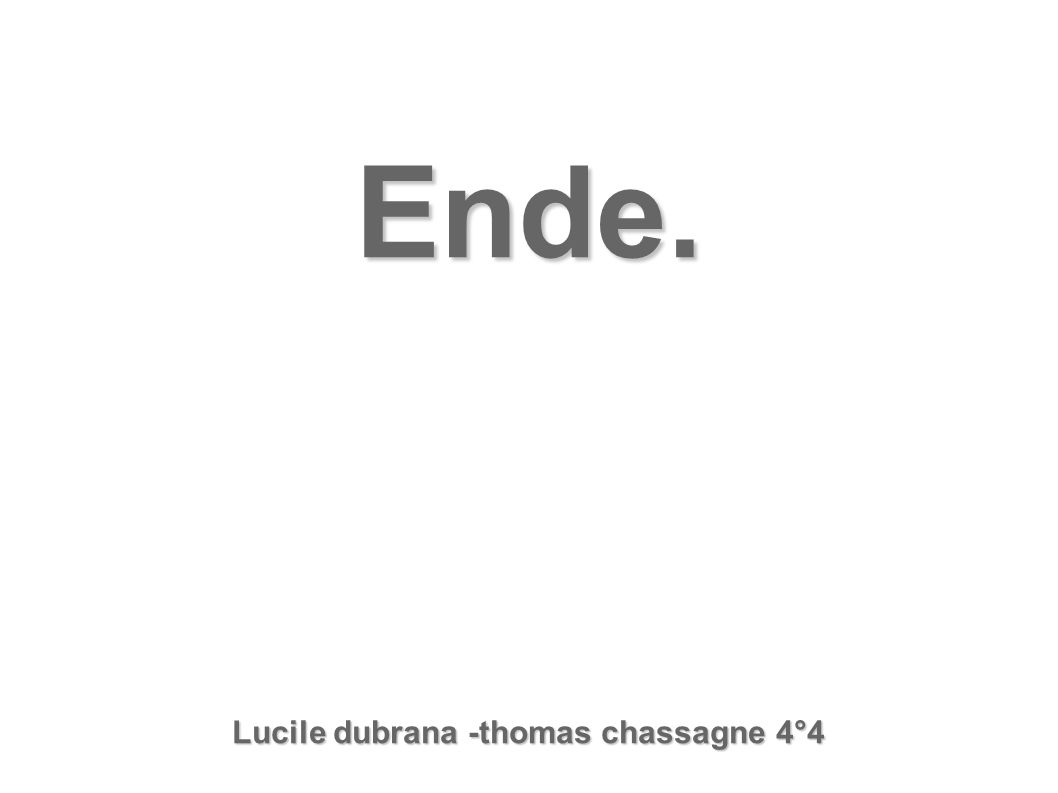 Ende. Lucile dubrana -thomas chassagne 4°4