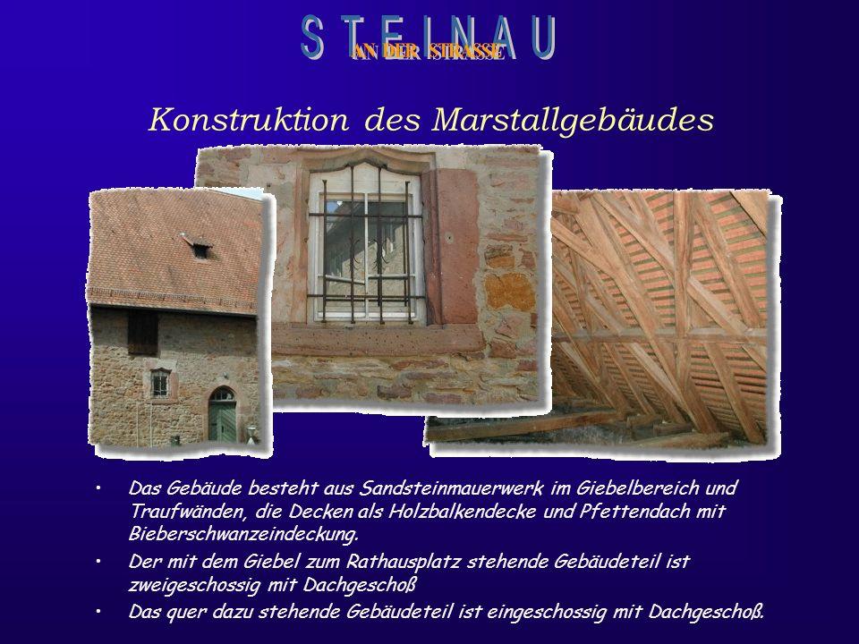 Was ist das Marstallgebäude Das Marstallgebäude wurde im 16. Jahrhundert erbaut. Der mit dem Giebel zum Kumpen zeigende Gebäudeteil wurde im unteren T