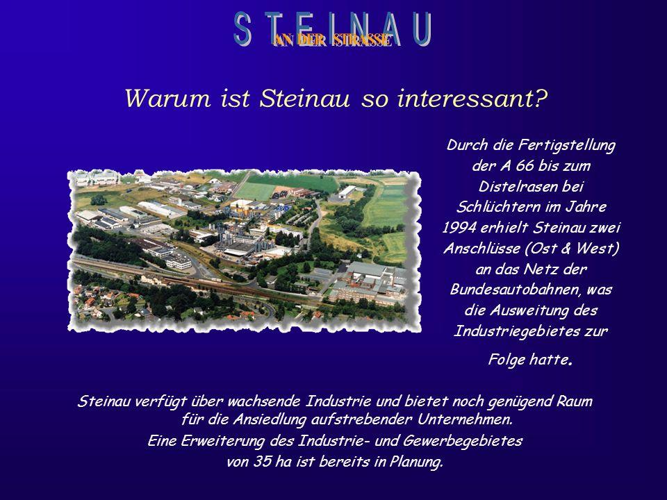 Steinau verfügt über wachsende Industrie und bietet noch genügend Raum für die Ansiedlung aufstrebender Unternehmen.
