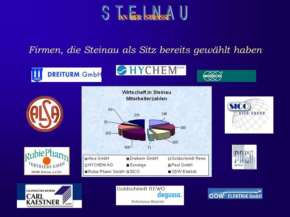 Steinau verfügt über wachsende Industrie und bietet noch genügend Raum für die Ansiedlung aufstrebender Unternehmen. Eine Erweiterung des Industrie- u