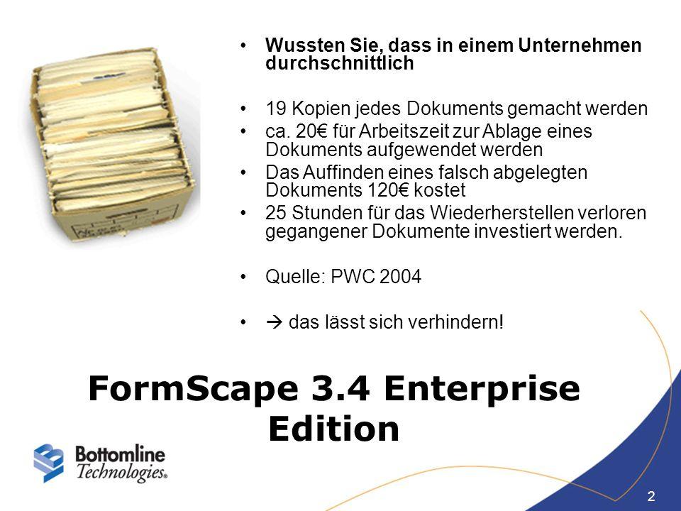 2 Wussten Sie, dass in einem Unternehmen durchschnittlich 19 Kopien jedes Dokuments gemacht werden ca. 20 für Arbeitszeit zur Ablage eines Dokuments a