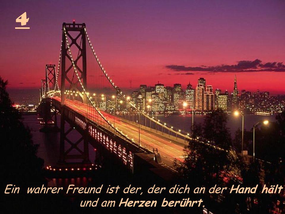 4 Ein wahrer Freund ist der, der dich an der Hand hält und am Herzen berührt.