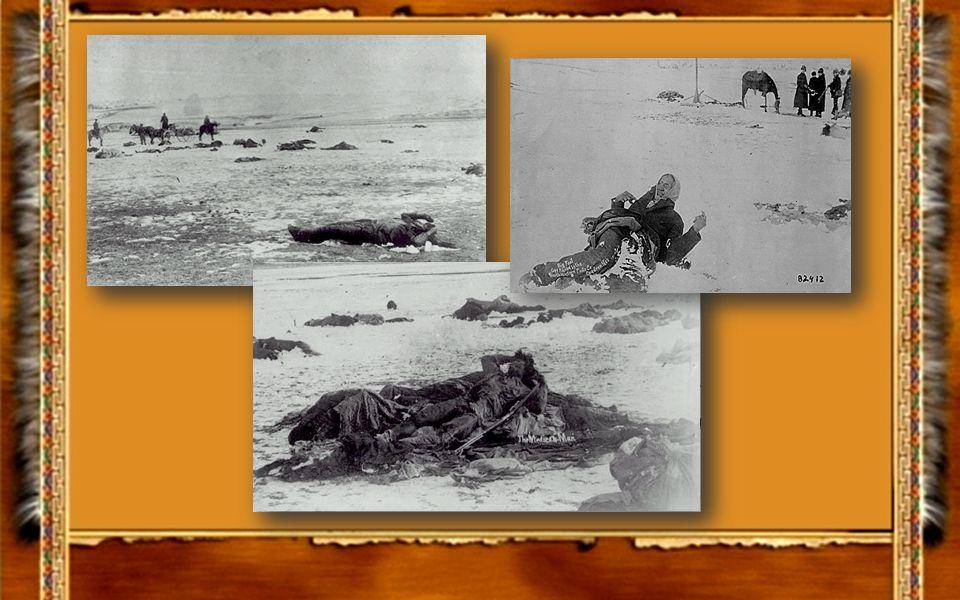 Das Indianercamp am Wounded Knee beteiligte Soldaten an dem Massaker am Wounded Knee, mit Hotschkiss Kanonen