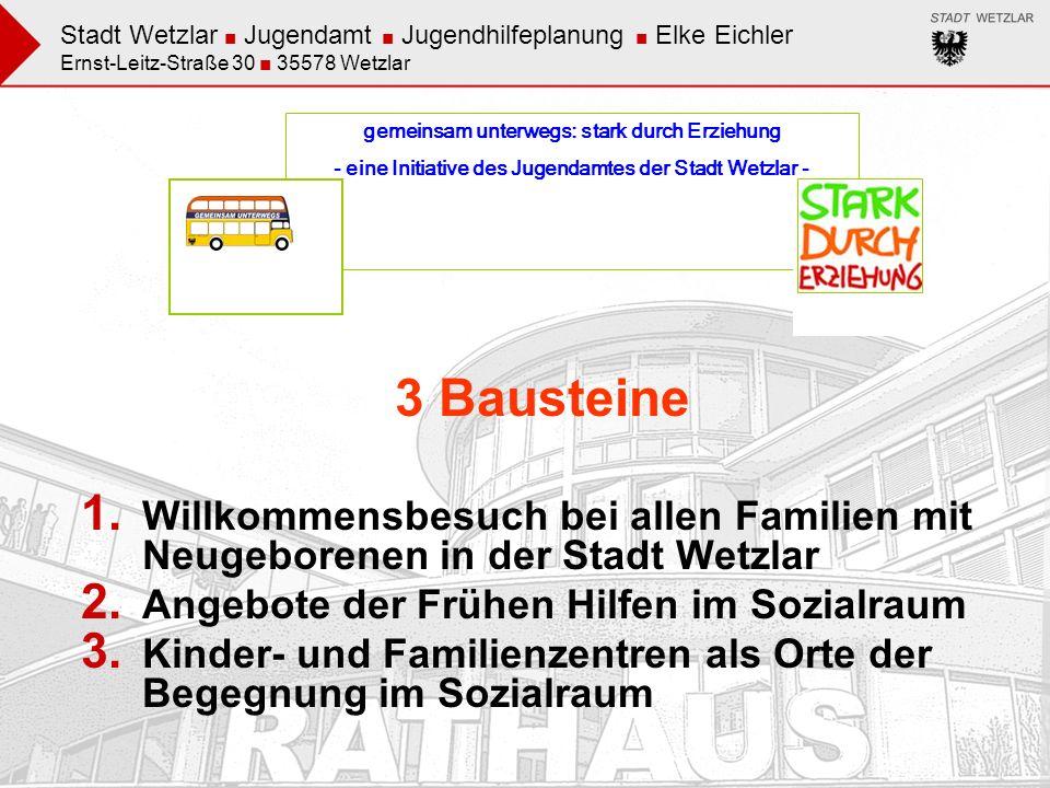 Stadt Wetzlar Jugendamt Jugendhilfeplanung Elke Eichler Ernst-Leitz-Straße 30 35578 Wetzlar gemeinsam unterwegs: stark durch Erziehung - eine Initiati