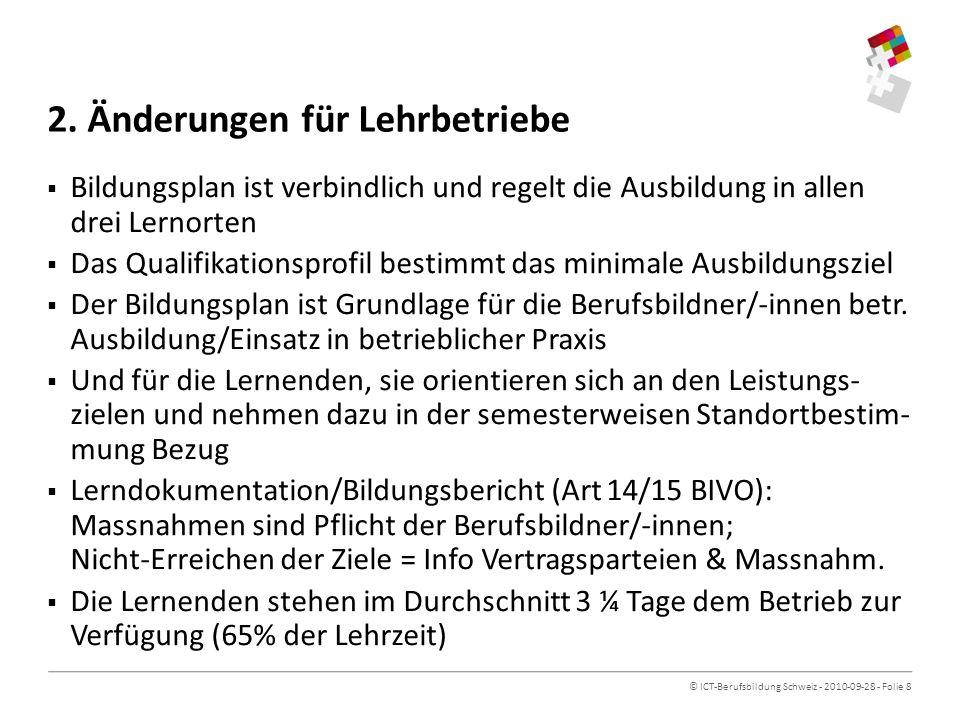 © ICT-Berufsbildung Schweiz - 2010-09-28 - Folie 8 2.