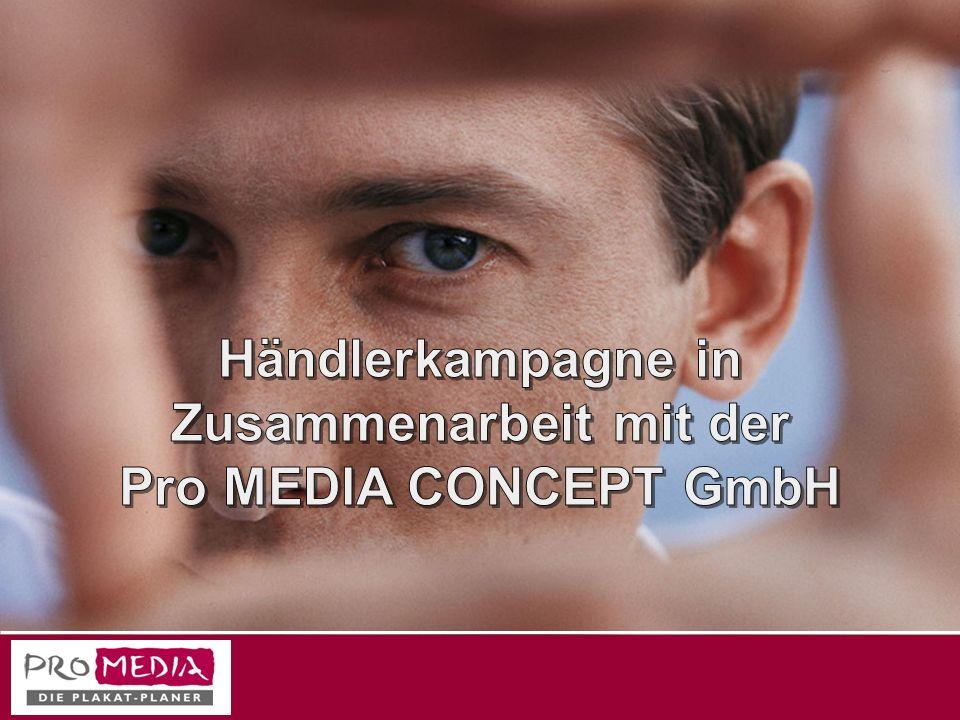 Wir über uns Die Pro MEDIA CONCEPT GmbH ist eine Media-Agentur speziell für den Bereich der Out-of-Home-Medien.