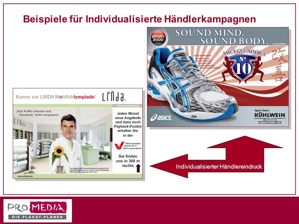 Beispiele für Individualisierte Händlerkampagnen Individualisierter Händlereindruck
