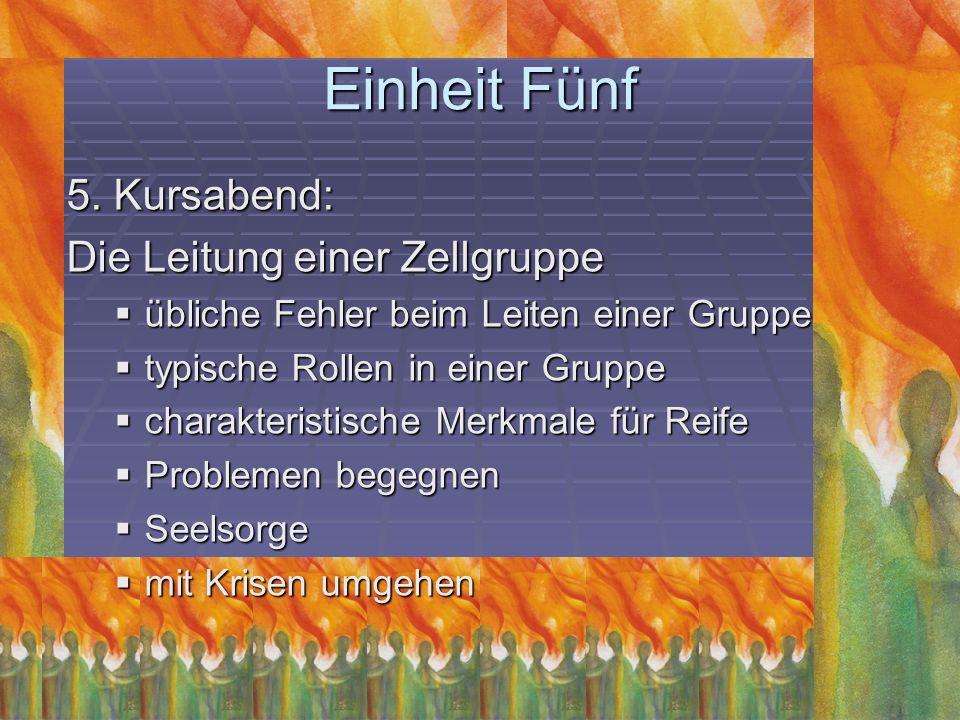 Einheit Sechs 6.Kursabend: Die Jüngerschaft Wer ist ein Jünger Christi.