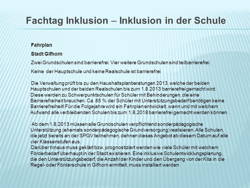 Fahrplan Stadt Gifhorn Zwei Grundschulen sind barrierefrei.