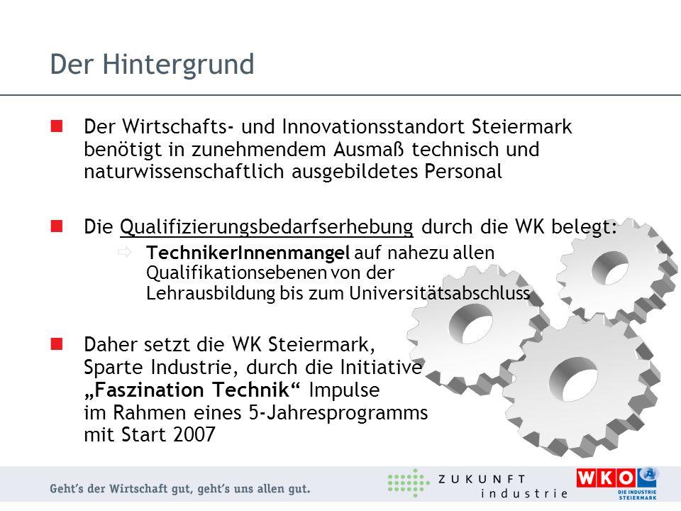 Der Hintergrund Der Wirtschafts- und Innovationsstandort Steiermark benötigt in zunehmendem Ausmaß technisch und naturwissenschaftlich ausgebildetes P