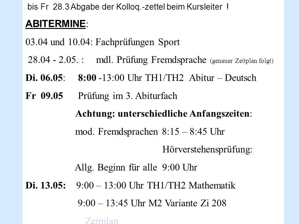 Verschiedenes - Abiturfeier: Fr.27.06.14 18:00 Kl.