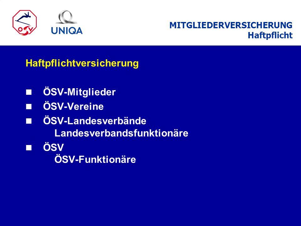 ÖSV-Mitglied n Für alle Ski- und Snowboard-Sportarten n Sowie bei Vereinsaktivitäten z.B.
