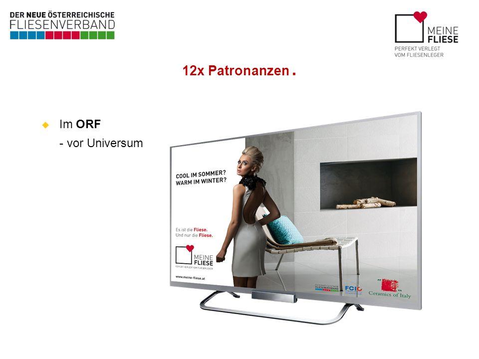 12x Patronanzen. Im ORF - vor Universum