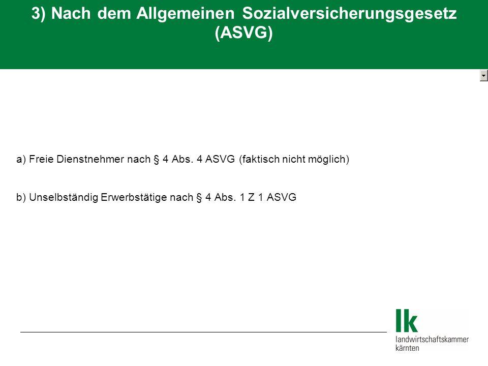 a) Freie Dienstnehmer nach § 4 Abs.