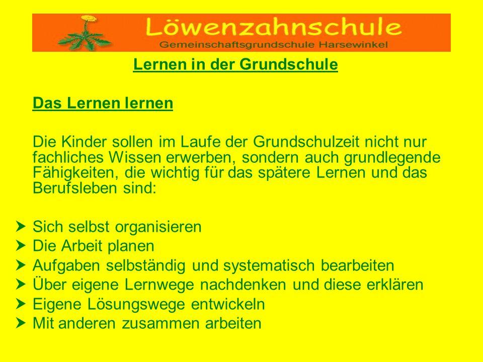 Lernen in der Grundschule Hausaufgaben….