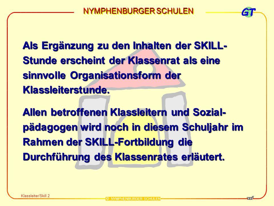 NYMPHENBURGER SCHULEN © NYMPHENBURGER SCHULEN (4) Die Intensivierungsstunde