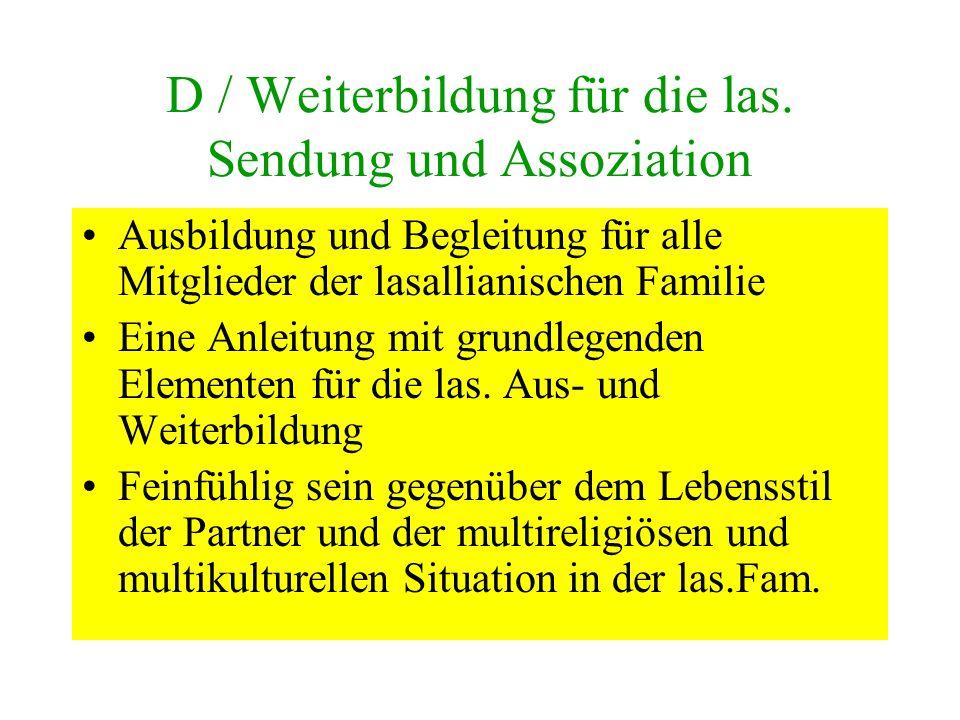 D / Weiterbildung für die las.