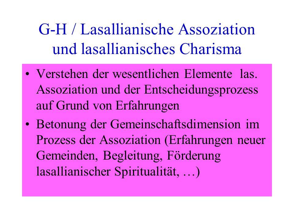 G-H / Lasallianische Assoziation und lasallianisches Charisma Verstehen der wesentlichen Elemente las.