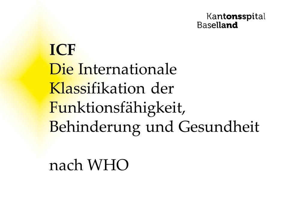 ICF Die Internationale Klassifikation der Funktionsfähigkeit, Behinderung und Gesundheit nach WHO