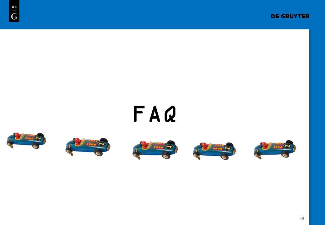 30 FAQ