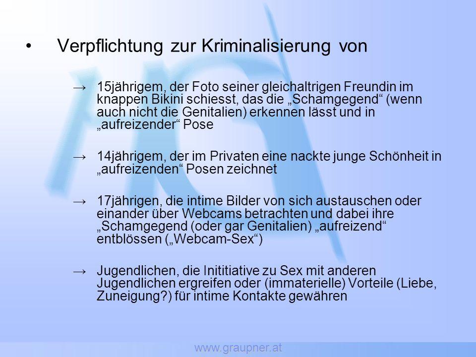 www.graupner.at Verpflichtung zur Kriminalisierung von 15jährigem, der Foto seiner gleichaltrigen Freundin im knappen Bikini schiesst, das die Schamge