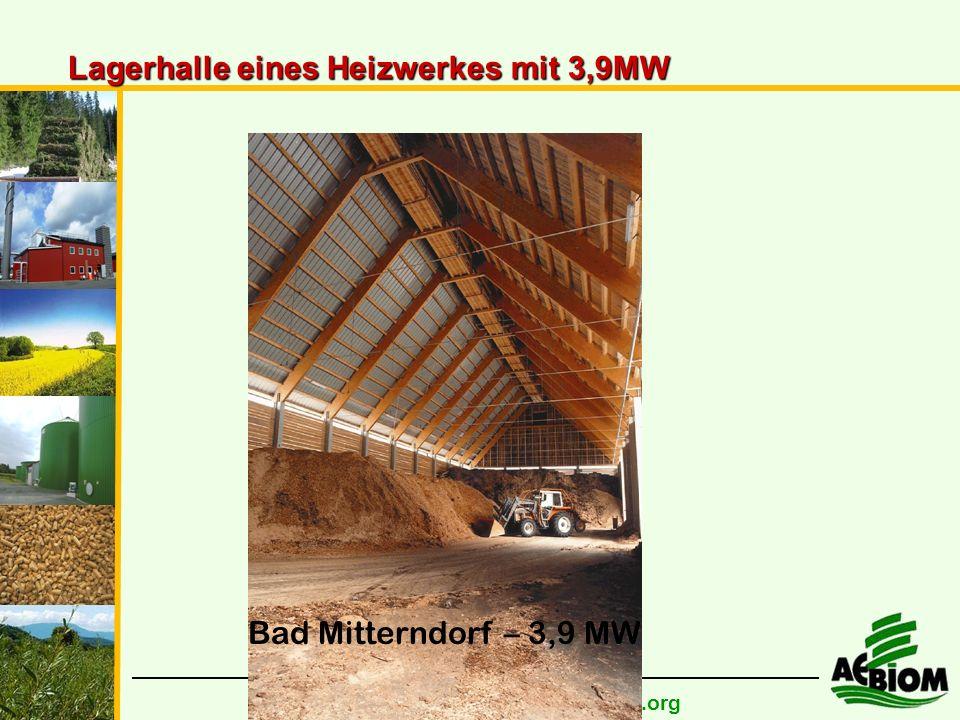 Bad Mitterndorf – 3,9 MW Lagerhalle eines Heizwerkes mit 3,9MW