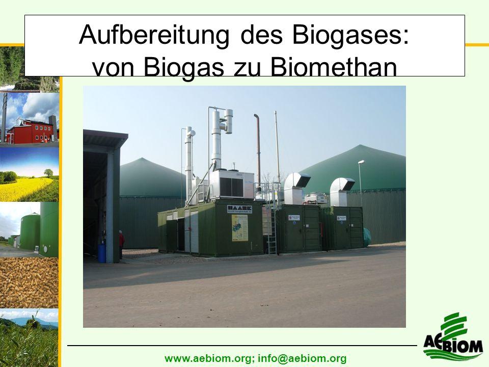 Aufbereitung des Biogases: von Biogas zu Biomethan