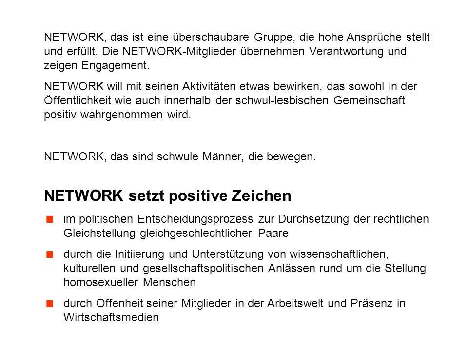 Gemeinsam bilden wir die schweizerische Organi- sation NETWORK und setzen uns ein für Offenheit, Respekt, soziale Vielfalt und Gleichberechtigung in unserer Gesellschaft …