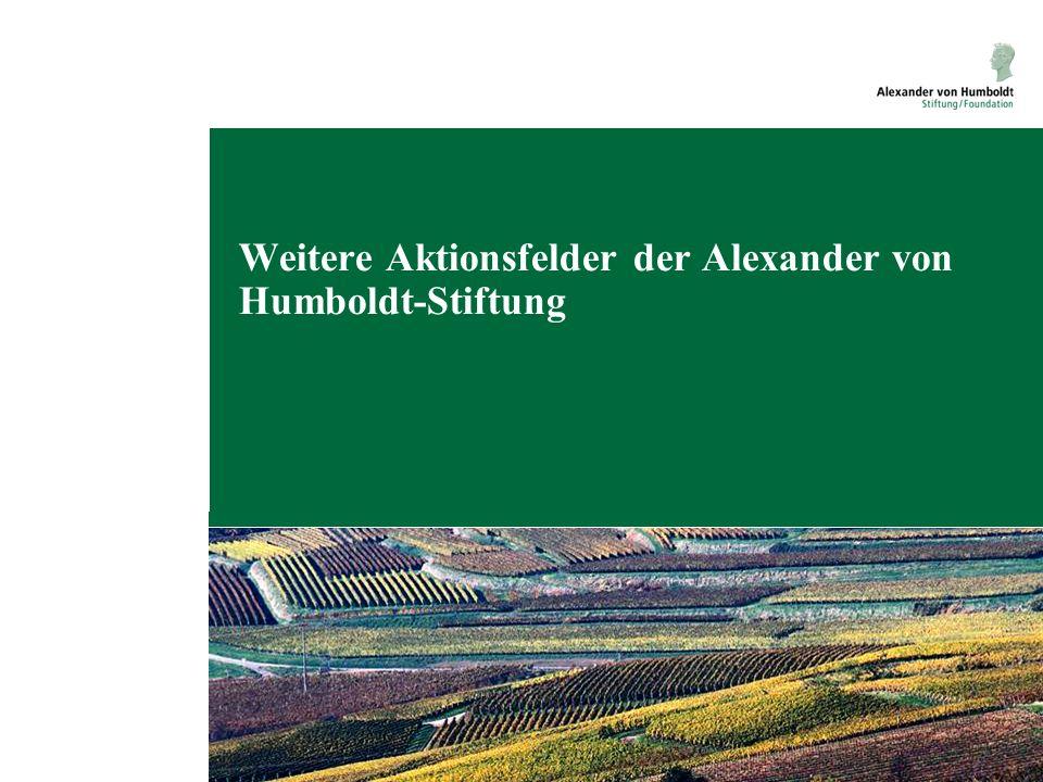 Weitere Aktionsfelder der Alexander von Humboldt-Stiftung