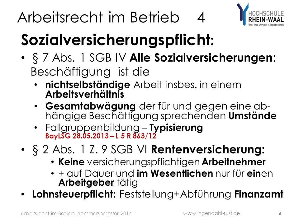 Arbeitsrecht im Betrieb 4 Sozialversicherungspflicht : § 7 Abs.