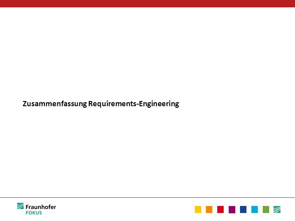 Zusammenfassung Requirements-Engineering