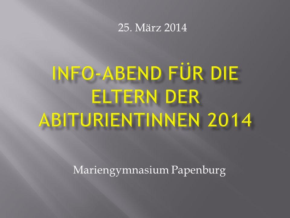 Mariengymnasium Papenburg 25. März 2014